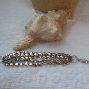 Lucky Brand Jewelry - 5 STRAND Silver tone BRACELET By Lucky Brand